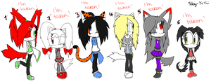 Sonic Adoptables +CLOSED+ by Sky-Yoshi