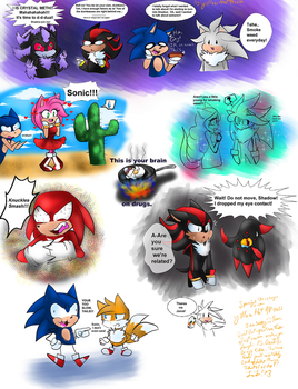 Crazy Sonic DooDles by Y3llowHatMous3