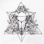 Tetrahedron (Personal Tattoo Design) by morgan96k