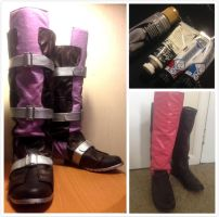 Lightning Guardian Corps Cosplay Boots by Fantalusy
