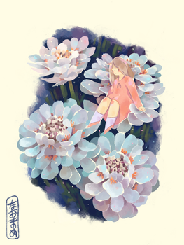 Flower Study 0.1 by Naomame
