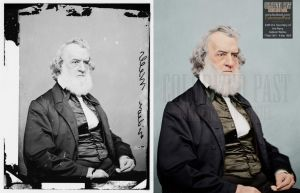 Secretary of the Navy Gideon Welles (USA) by ColorizedPast