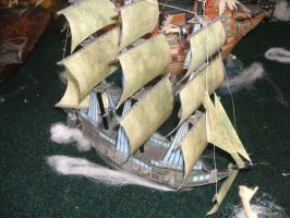 Pirate Ship paper model by Allhallowseve31