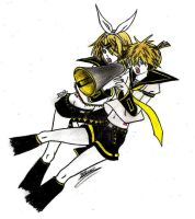 Vocaloid CD: Back Cover - Len and Rin by ZuZuFarron21