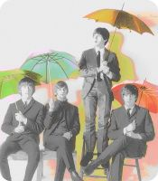The Beatles with Umbrellas by DiannaSixx