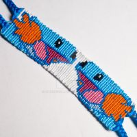 Mudkip 1.25 inch Friendship Bracelet by CarrieBea