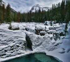 Natural Bridge Winter Pano by skip2000