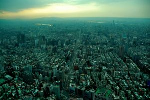 Taipei City ( view from 101) by esee