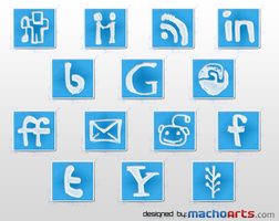 MachoArts social media icons by suraj78