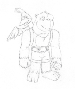 Banjo and Kazooie Sketches by Dreams-N-Nightmares