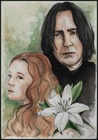 Lily and Severus by SallyGipsyPunk