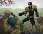 Dredd in Mojave by Kain-Moerder