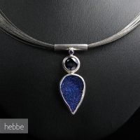 Necklace SkyOverTheBlueLake by HebbeJewellery