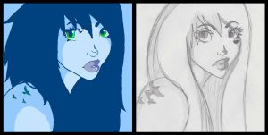 Lacie before and after by NiveousLamia