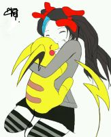 Vane the killer and Mad Pikachu by Kagamine-fangirl