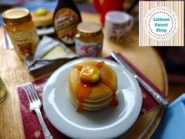 Stacked pancake miniature by LittlestSweetShop