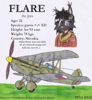 Flare and His Avia B354 by DingoPatagonico