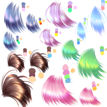 Hair Coloring Practice/Experiment by cuteandrandom