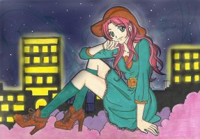 Claire Redfield Night in the City by LeonandClaireBSAA