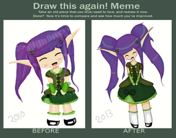 Draw This Again meme: Alrin Chibi by Crescent-S-Moon