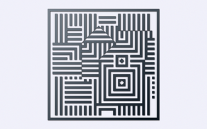 Inspired by Victor Vasarely - Riu-Kiu-C by Manshonyagger