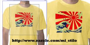 T Shirt: Japanese Wave by Vilchis