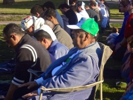 Praying salah at the syrian rally by mayaa199313