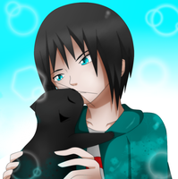 A boy and his cat by IgnisSorceress