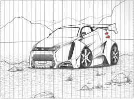 Ford X-Treme Concept Drawing by leandroconradt95