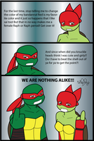 TMNT Raph and Maggie by wachey