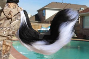 White and Black Husky Tail for Sale by Tailarium