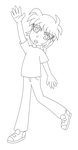 Ryo paperchild lineart by MikariStar