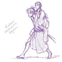 Piggy back - scetch by Elruu