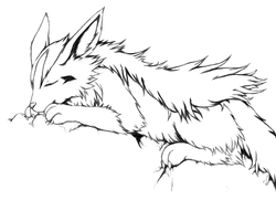 Mightyena lineartness by KouichiKimura