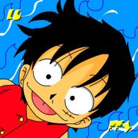 luffy-one piece by s0s2