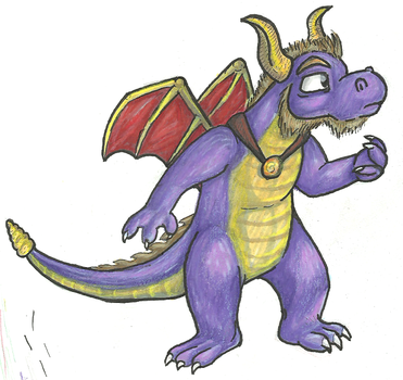 Spyro as an adult or his dad by ratdust
