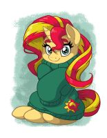 Sunset Shimmer in Over-sized Sweater by LateCustomer