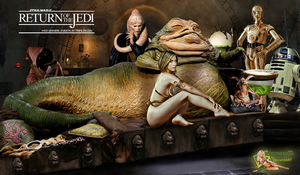 Jennifer Aniston|Princess Leia Slave|Jabba Hutt by c-edward