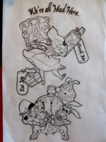 Alice in wonderland sleeve tat by Malitia-tattoo89
