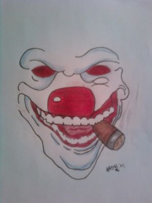 Scary Evil Clown Drawings
