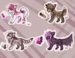 4/4 OPEN Canine Adoptables 2 by dolphin4dreamer