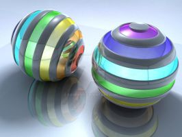 Striped balls by egresh