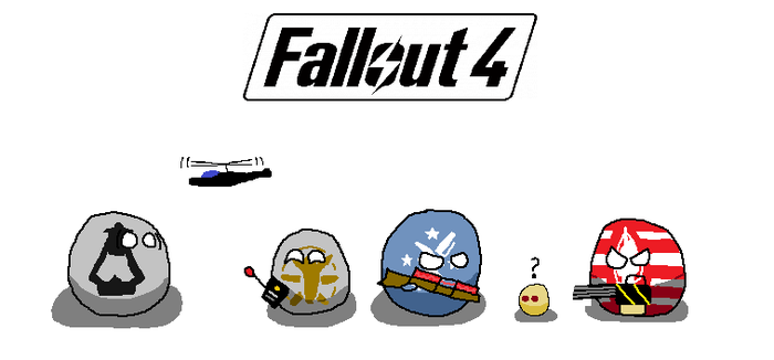 Fallout 4 Factionballs by TheVictorianAmerican