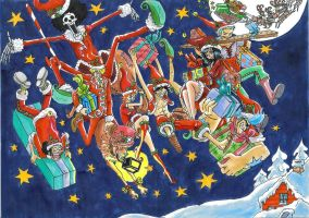 one piece, Merry Christmas by heivais