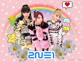 ~2ne1 Wallpaper.~ by Vagahoondo