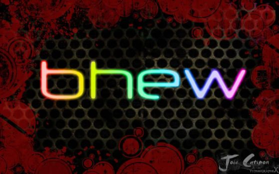 bhew neon with bloody frame by joiecatipon