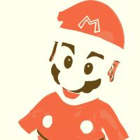 Super Mario Christmas pop art by DevintheCool