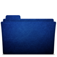 Folder-icon Scratched Blue by TylerGemini