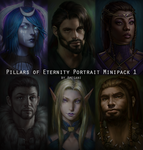 Pillars of Eternity Portrait Minipack #1 by amegani