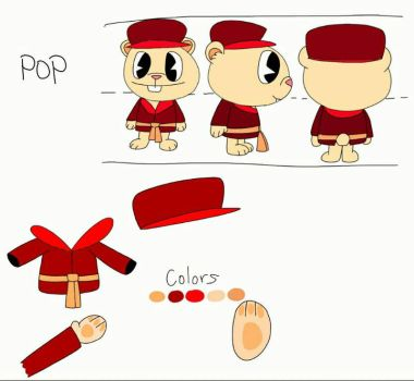 Pop Charater Reference Model Sheet by ThisIsDeshawnHarvey